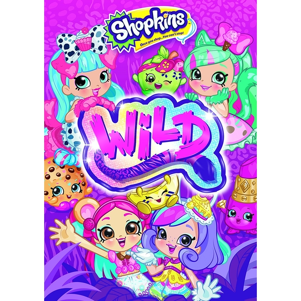 Shopkins Wild DVD (Include Sticker Sheet)