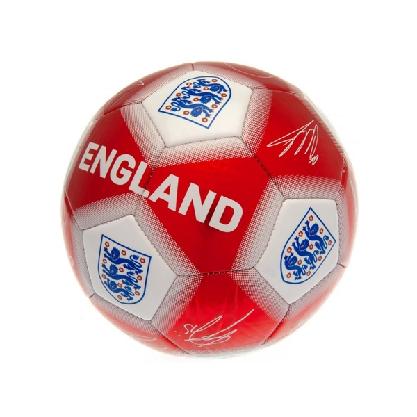England Red White Signature Ball Size 5