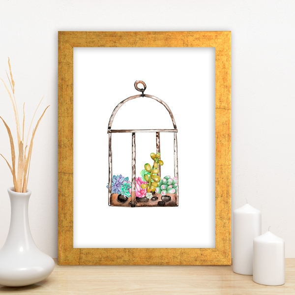 AC4476987196 Multicolor Decorative Framed MDF Painting