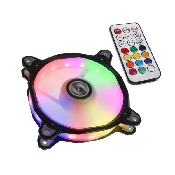 Lian Li BR RGB PWM 120mm Fan with Remote Fan Controller - Black