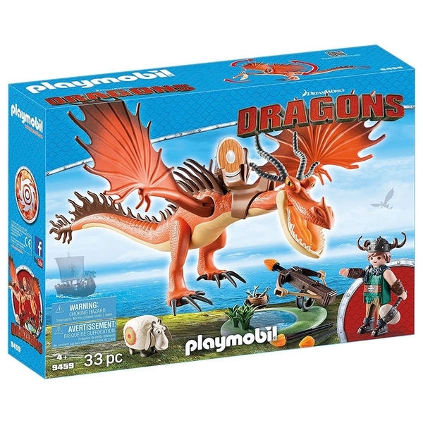 Playmobil DreamWorks Dragons Snotlout and Hookfang - Image 1