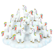 Set of 12 Rainbow Unicorns with display Stand