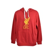 M Liverpool Crest 240g Hoody Red