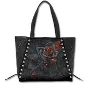 Burnt Rose PU Leather Studded Tote Bag
