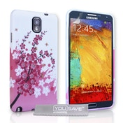 YouSave Accessories Samsung Galaxy Note 3 Floral Bee Gel Case - Pink-White