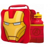 Iron Man (Avengers) 3D Childrens Lunch Bag With Bottle