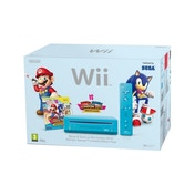 Nintendo Wii Console (Blue) with Mario and Sonic at the London 2012 Olympic Games Wii