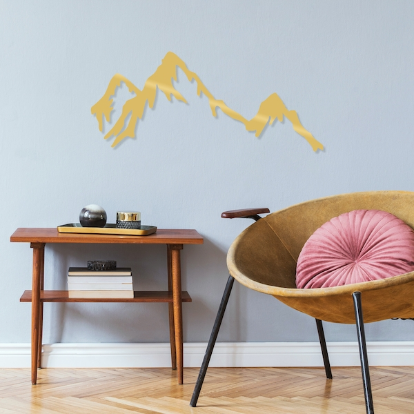 Mountain - Gold Gold Decorative Metal Wall Accessory