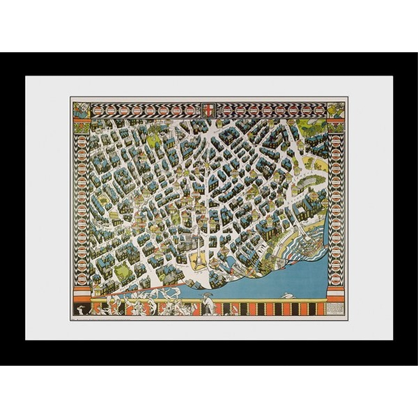 Transport For London Stylised Map 60 x 80 Framed Collector Print