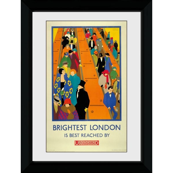 Transport For London Brightest London 50 x 70 Framed Collector Print
