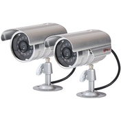 Proper Imitation Camera Aluminium Kit inc 2 Security Cameras