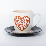 Thumbs Up! L&M Mug and Saucer Set Love