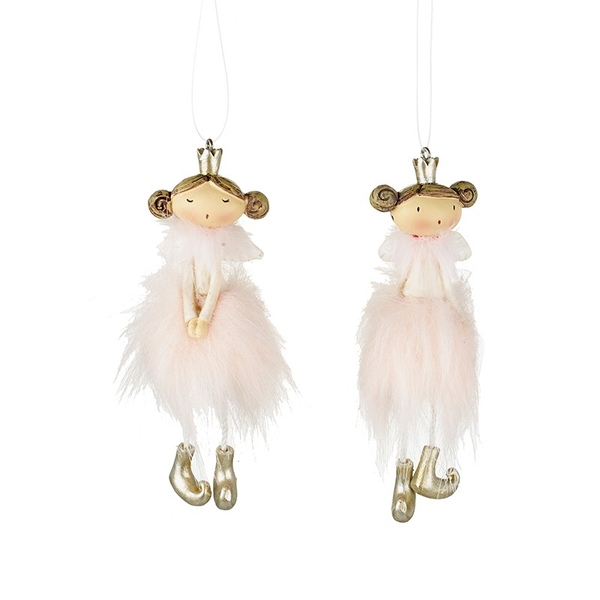 Small Pink Hanging Fairy by Heaven Sends (Set of 2)