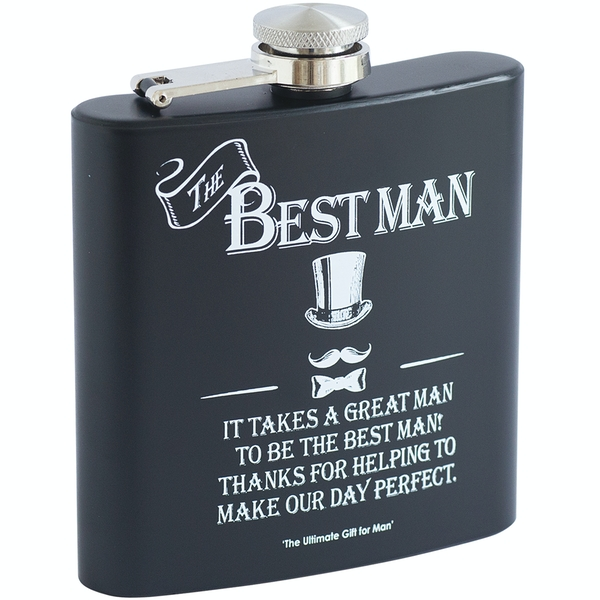 Ultimate Gift for Man Hip Flask Best Man
