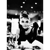 Audrey Hepburn - Breakfast at Tiffany's B&W Postcard