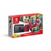 Nintendo Switch Console with Red Joy-Con Controllers + Super Mario Odyssey