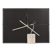 12pc Leather Placemat and Coaster Set