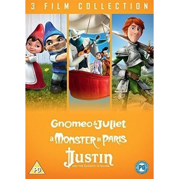 3 Film Collection - Gnomeo & Juliet / A Monster In Paris / Justin And The Knights Of Valour DVD