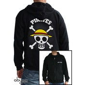 One Piece -Skull with Map Men's XX-Large Hoodie - Black