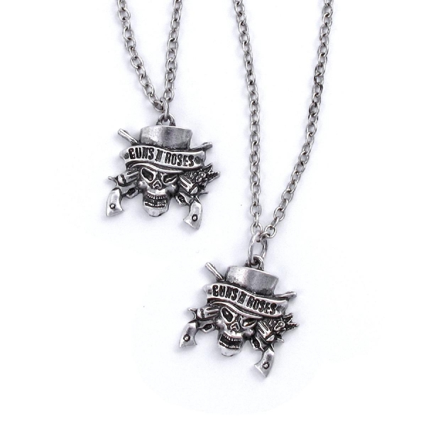 Guns N' Roses - Skull Necklace & Bracelet Set