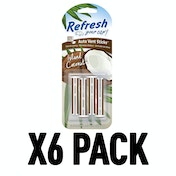 Island Coconut (Pack Of 6) Refresh Vent Stick