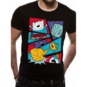 Adventure Time Pop Art Men's Medium T-Shirt (Black)