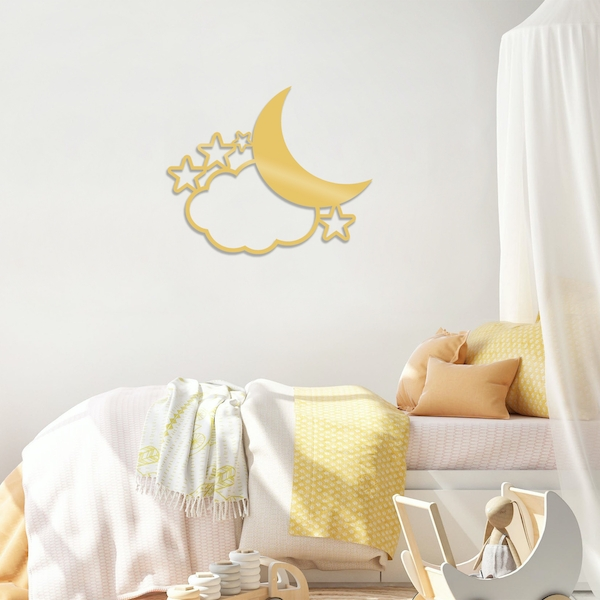 Night 2 - Gold Gold Decorative Metal Wall Accessory