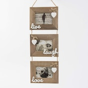 Sass & Belle Live Laugh Love Triple Photo Frame