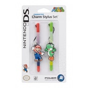 Nintendo Licensed Character Charm Stylus Twin Pack Mario & Yoshi 3DS/ DSi XL/ DSi/ DS Lite