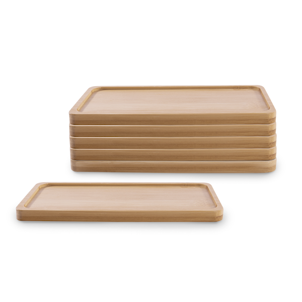 Bamboo Base for Ceramic Planters - Set of 6 | M&W