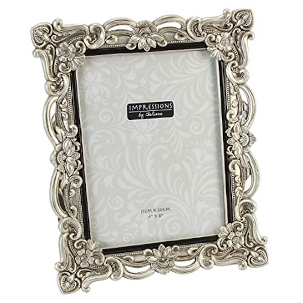 "6"" x 8"" - Impressions Antique Silver Photo Frame"