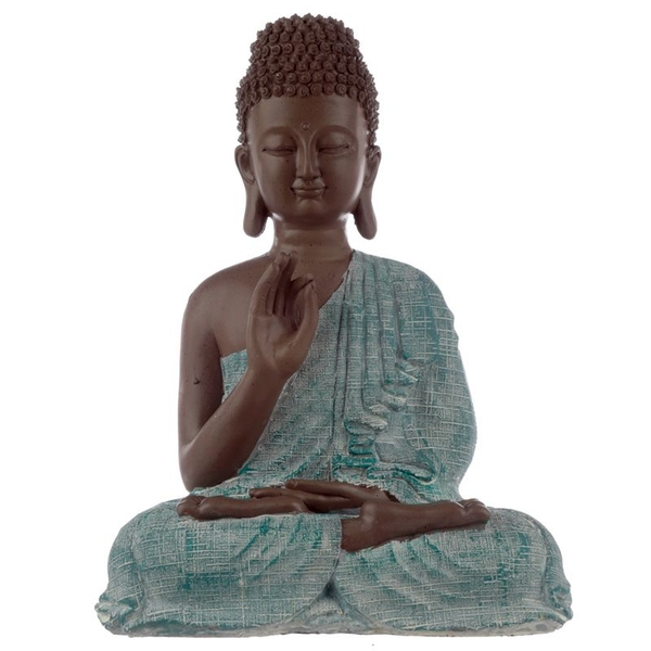 Thai Buddha Brown, White and Turquoise - Enlightenment