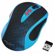 Brightly Coloured 2.0 Wireless Optical Mouse (Blue)