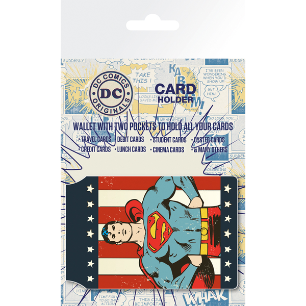 DC Comics Retro Superman Card Holder - Image 1