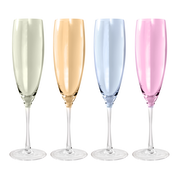 Pastel Assorted Glassware Champagne Flute 320ml - Set of 4 | M&W