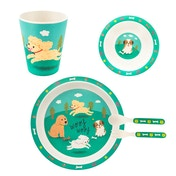 Sass & Belle Puppy Dog Playtime Bamboo Tableware Set