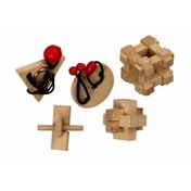 5 Classic Wooden Puzzles