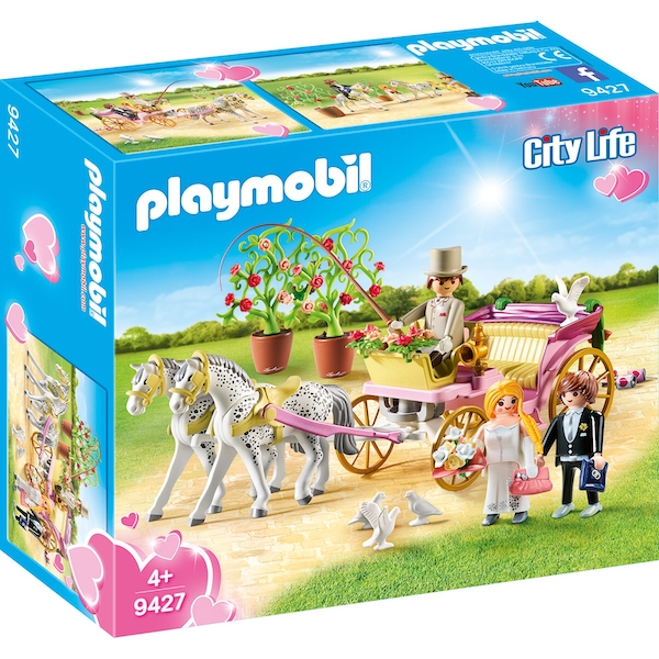 Playmobil City Life Wedding Carriage with Tin Can Trail