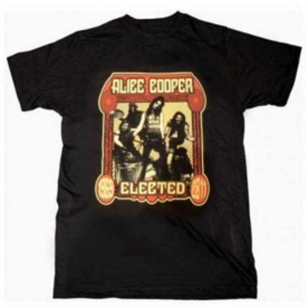Alice Cooper Elected Band Mens Black T-Shirt: Small