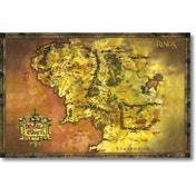 Lord Of The Rings Classic Map Poster