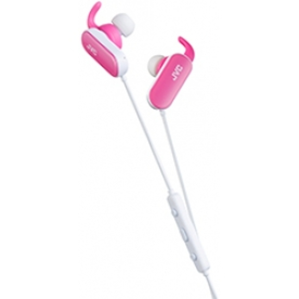 e76c60cad09 Hey! Stay with us... JVC HA-EBT5 Wireless Sports In-Ear Bluetooth Headphones  Pink
