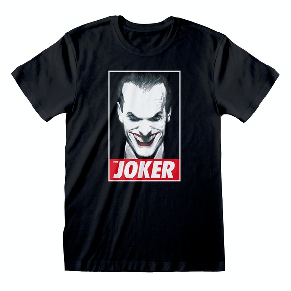 DC Batman - The Joker Unisex Large T-Shirt - Black