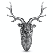 Stag Deer Head Wall Sculpture | M&W Silver