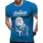 The Avengers Infinity War - Blue Thanos Men's Large T-Shirt - Blue