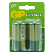 GP Greencell Zinc Pack of 2 D Batteries