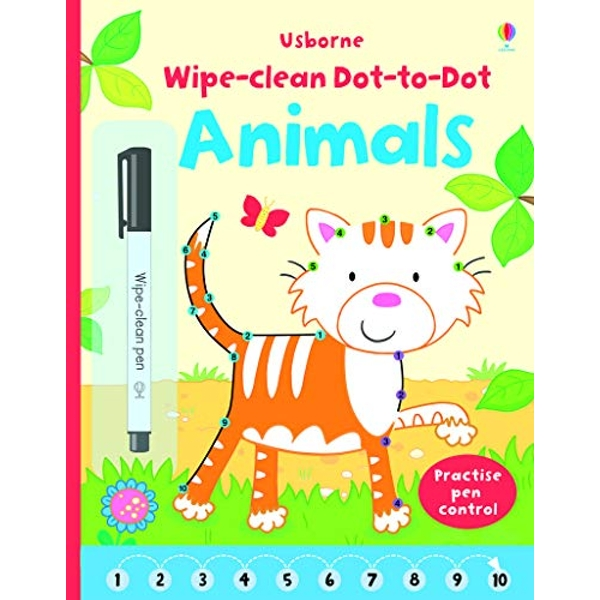 Wipe-Clean Dot-to-Dot Animals by Usborne Publishing Ltd (Paperback, 2015)