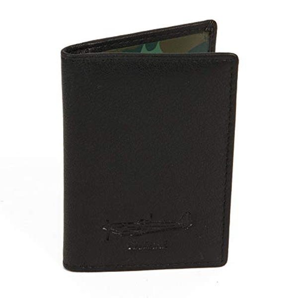 Military Heritage Leather Card Wallet - Spitfire