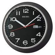 Seiko QXF102Z Day & Date Calendar Wall Clock Black