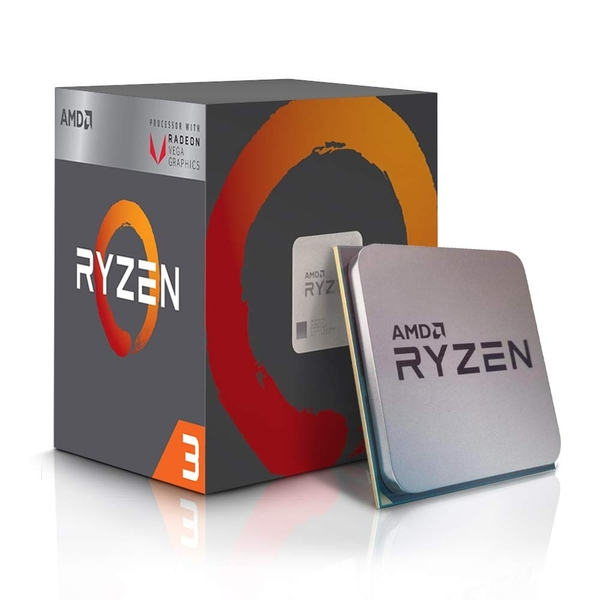 AMD Ryzen 3 2200G with RADEON RX VEGA 8 Graphics 3.5GHz Quad Core AM4 Socket Overclockable Processor