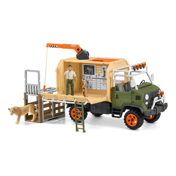 Schleich - Wild Life Animal Rescue Large Truck with Toy Figures & Accessories